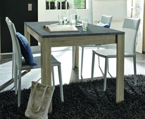 plateau de table de cuisine table de repas avec plateau en ardoise elba chene gris