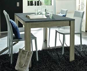 Table Chene Gris : table de repas avec plateau en ardoise elba chene gris ~ Teatrodelosmanantiales.com Idées de Décoration