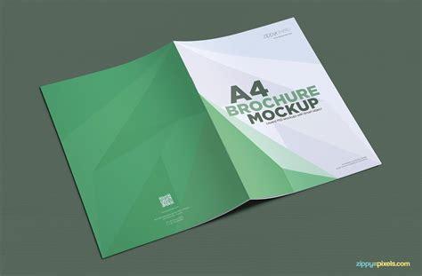 Brochure Mockup Free A4 Brochure Mockup Zippypixels