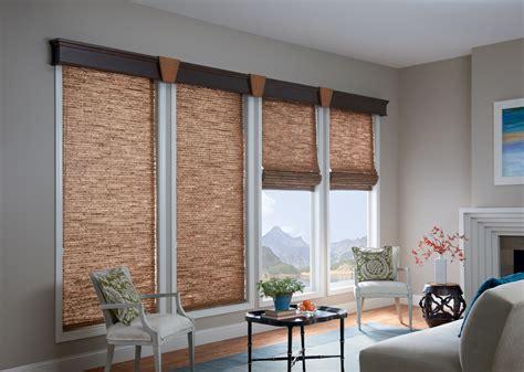 bay window cornice woven wood shades 3 blind mice window coverings