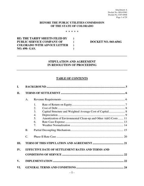 debt settlement agreement letter  printable documents