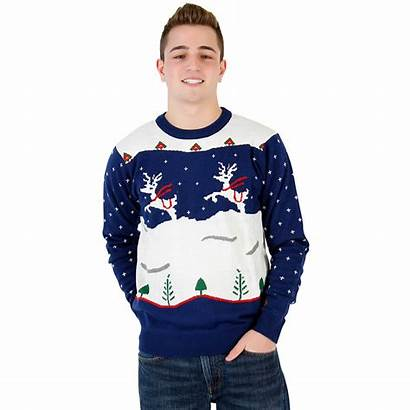 Brothers Step Christmas Sweater Ugly Navy Reindeer