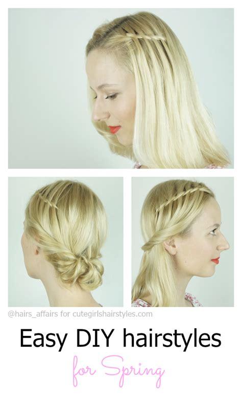 easy diy hairstyles for spring cute girls hairstyles