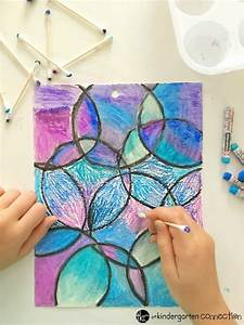 Easy Oil Pastel Watercolor Project for Kids