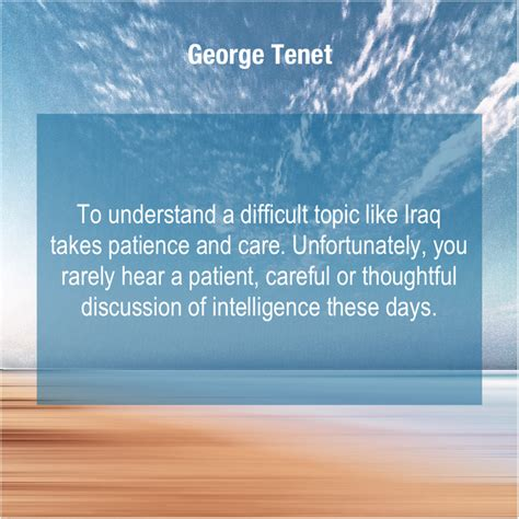 The title of christopher nolan's movie is itself a bit of a puzzle. George Tenet - To understand a difficult topic...