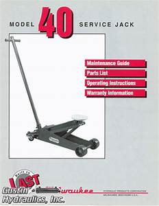 Milwaukee Model 40 Maintenance Guide  Parts List  And