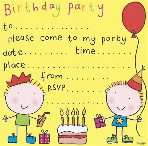 birthday party invites  kids bagvania
