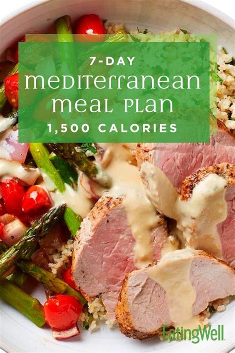 7 Day Mediterranean Meal Plan: 1 500 Calories Easy