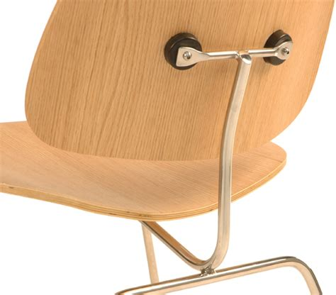 shop eames style bent plywood dining chair with metal legs