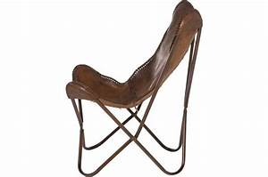 Fauteuil transat cuir de vache clarabelle fauteuil for Fauteuil transat