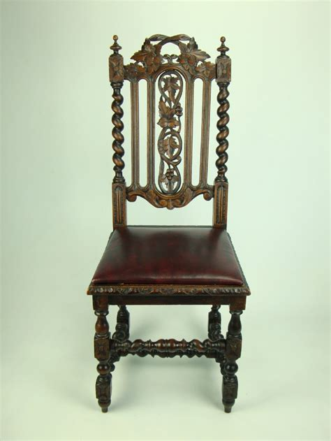antique oak chair antique oak chair with leather seat 1292