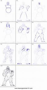 How To Draw Gorilla Grodd Printable Step By Step Drawing