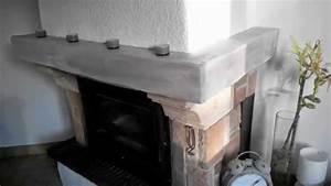 Peindre et relooker sa poutre de cheminee youtube for Attractive peindre un plafond avec des poutres 1 peinture