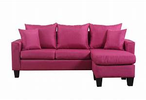 Modern linen fabric small space sectional sofa w for Small linen sectional sofa