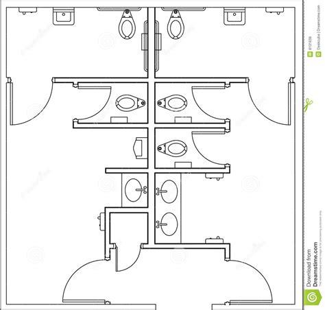 public toilet design plans in populated area restrooms plan stock illustration illustration of