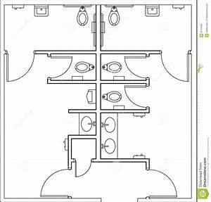 Plan De Toilette Bois : toilettes de plan illustration stock illustration du ~ Dailycaller-alerts.com Idées de Décoration