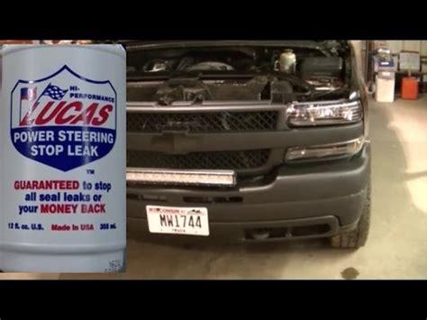 silverado hd power steering leaks lucas stop leak