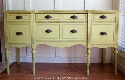 Antique Painted Sideboard by Updating A Vintage Sideboard Buffet With A Pop Of Color
