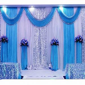 36m Sequin Wedding Backdrop Curtain With Swag Backdrop