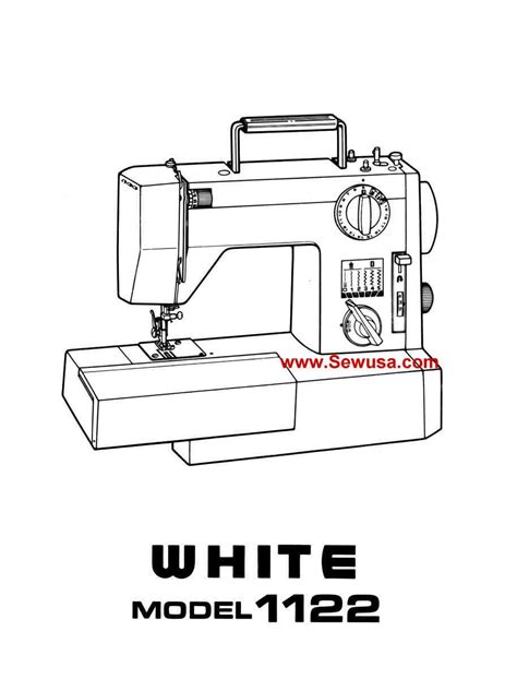White 1122 Instruction Manual