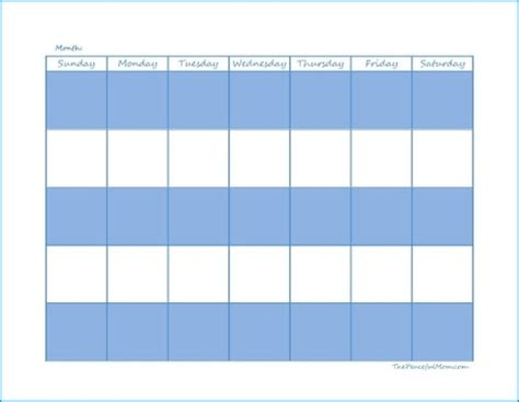 monthly calendar editable form editable calendar peaceful mom