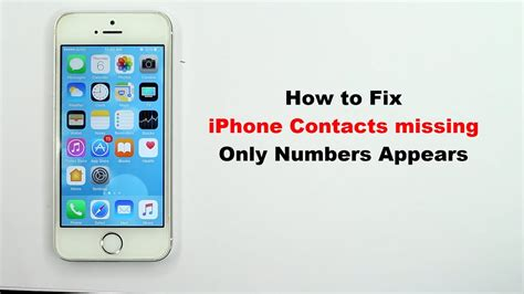 how to use numbers on iphone fix iphone contacts missing only numbers appears no How T