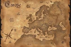 Alte Weltkarte Poster : poster alte weltkarte karte von europa in englisch poster poster 61 x 91 5 wissenschaft ~ Markanthonyermac.com Haus und Dekorationen