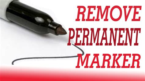 15 Ways To Remove Permanent Marker