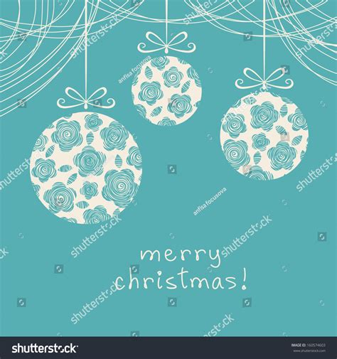Vector Christmas Blue Background Invitation Greeting Stock