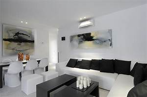 17 inspiring wonderful black and white contemporary With black and white living room decor