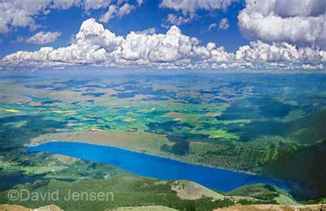wallowa lake from mount joseph photo