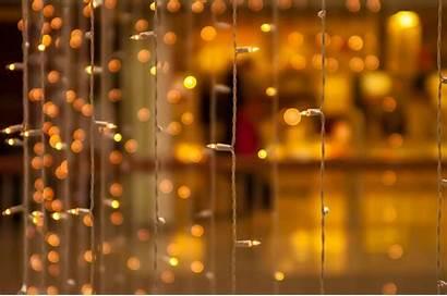 Blur Bokeh Yellow Wallpapers Lights Decoration Screen
