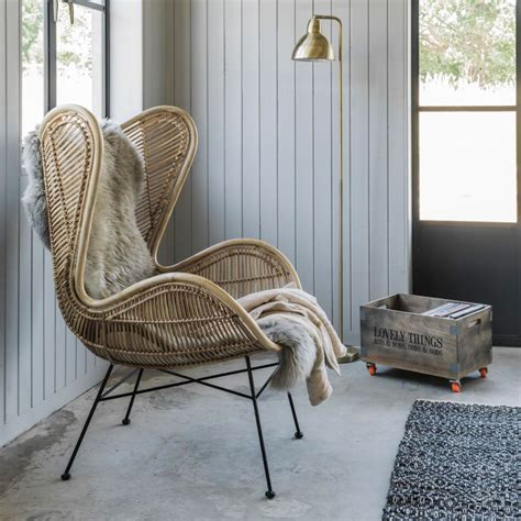 Rattan Wing Chair  Seating  Graham And Green
