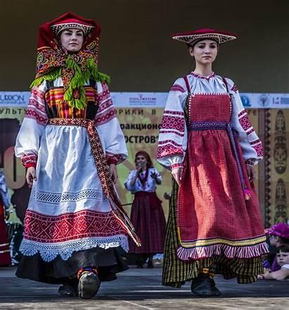 Russian Traditional Folk Costumes Sarafan National Costume