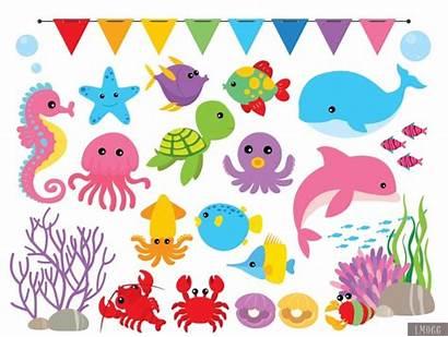 Sea Under Clipart Digital Papers Meylah