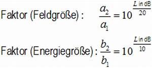 K Faktor Berechnen : db rechner db berechnen spannung leistung dezibel rechner ~ Themetempest.com Abrechnung