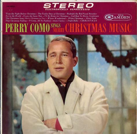 perry como xmas album perry como sings merry christmas music cd album record