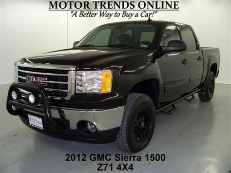 on board diagnostic system 2012 gmc sierra 1500 electronic toll collection buy used 4x4 z71 sle crew cab mb wheels brushguard boards tow 2012 gmc sierra 1500 30k in alvin