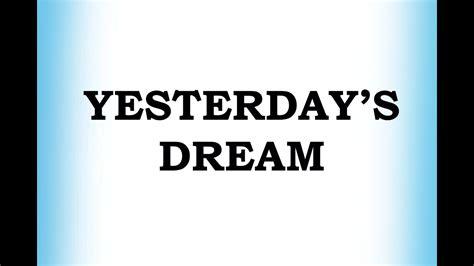 yesterdays dream abc kids mp  mp
