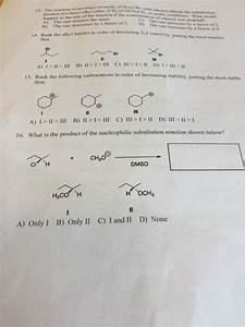 Solved  What Is The Product Of The Nucleophilic Substituti