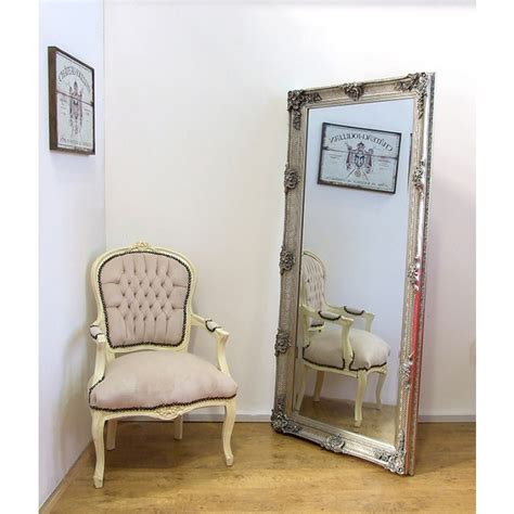 shabby chic large wall mirrors abbey large shabby chic antique style leaner wall mirror 31 quot x 65 quot silver leaner mirrors
