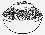Coloring Spaghetti Pasta Nicepng sketch template