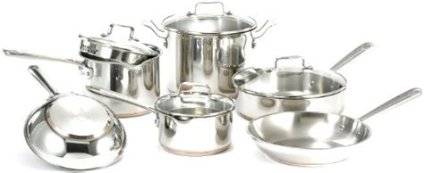 conserve   inexpensive emeril   clad esa stainless steel  copper  pouring