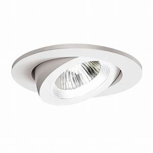 Halo in white recessed lighting adjustable gimbal trim