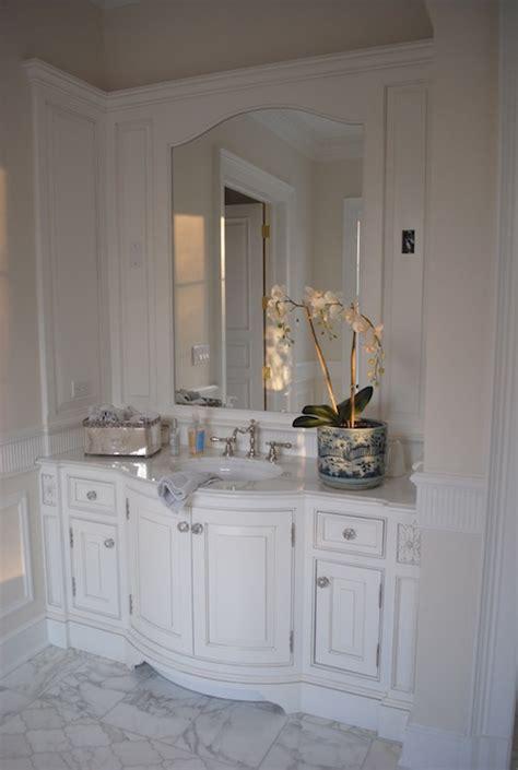 bow front bathroom vanity design ideas