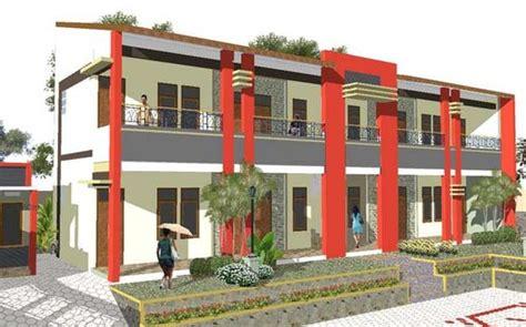 desain rumah kost minimalis hub  www