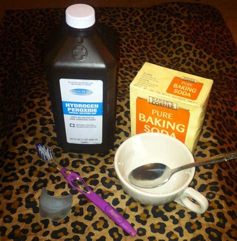Baking Soda and Peroxide Teeth Whitening