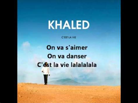 cheb khaled c est la vie lyrics youtube