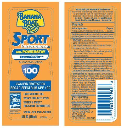 Banana Boat Sunscreen Oxybenzone by Dailymed Banana Boat Avobenzone Octocrylene Oxybenzone