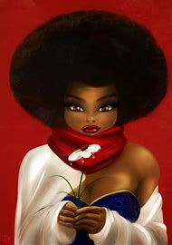 Black Art African American Women Afros
